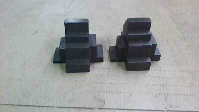 Two Machinist Step Up Blocks , Work Holding , Set Up Blocks