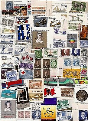 vintage MNH MINT UNUSED FULL GUM CANADA Canadian postage stamps lot CA67