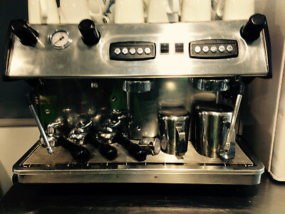 Silvestre Group 2 Commercial Expresso Coffee Machine. Stainless Steel.