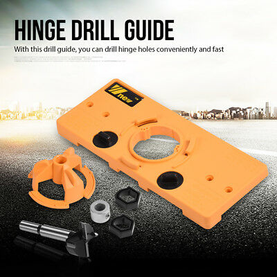 35mm Concealed Cabinet Hinge Jig Wood Hole Saw Drill Locator Guide