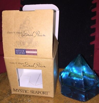 Mystic Seaport Reproduction 19th Century Deck Prism Turquoise Blue New In Box