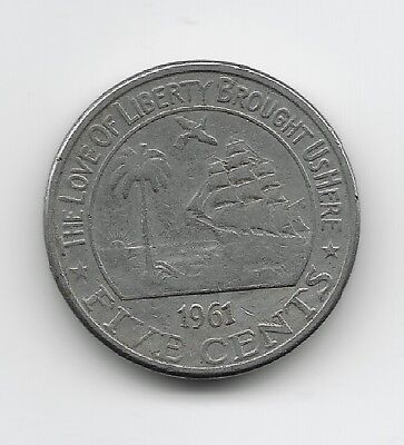 World Coins - Liberia 5 Cents 1961 Coin KM# 14