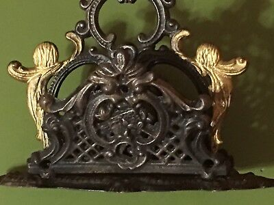 Vintage 'Bradley and Hubbard' Cast Iron Double Sided Letter Holder