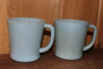 Vintage Fire King Azure Blue Mugs