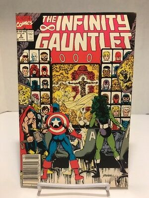 Marvel Comics 1991 The Infinity Gauntlet #2 1st Appearance Of Epoch VF+/NM