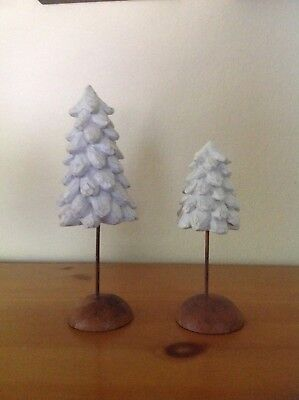 Demdaco willow tree retired nativity trees set of 2 #26008