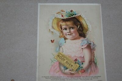 Vintage Early 1900's Hires (Improved) Root Beer Advertising Trade Card