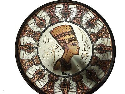 ANCIENT EGYPTIAN BEAUTIFUL COPPER Plate Egyptian Queen Nefertiti