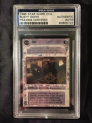Star Wars PSA/DNA certified Rusty Goffe Signed CCG card autograph