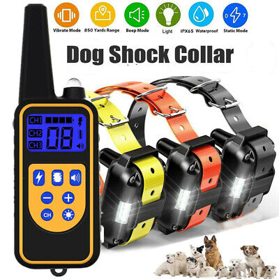 Outdoor Wireless Dog Training Shock 2 Collar Fence Pet Electric Trainer System