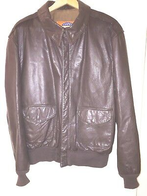 Cooper A-2 US Air Force Leather Flight Bomber Jacket Size Men's 46L; Made in USA