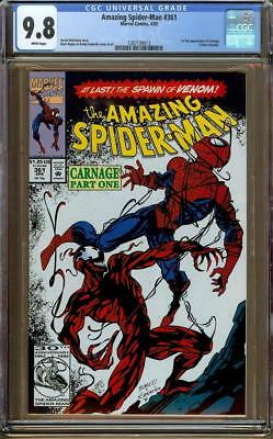 Amazing Spider-Man #361 CGC 9.8 White Page - 1st Appearance of Carnage