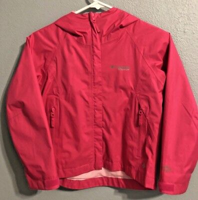 COLUMBIA Pink TITANIUM OMNI-TECH Rain Jacket Windbreaker sz 7/8