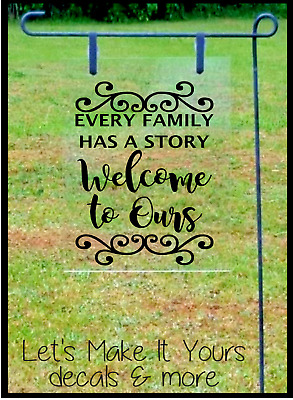 Every family has a story welcome to ours  hanging sign plaque quote gift