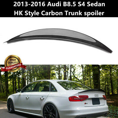 For Audi S4 B8.5 Sedan 2013-2016 Carbon Fiber Trunk Spoiler Wing HK Style