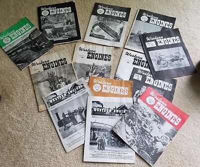 Vintage Lot of 13 60's & 70's Western Engines Magazine