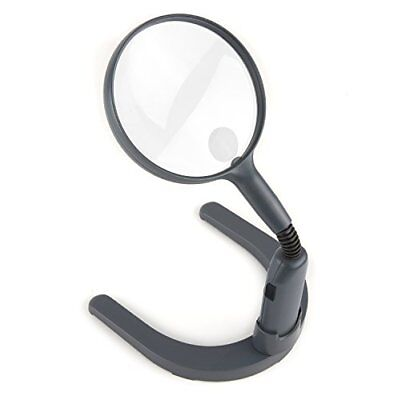 MagniLamp LED Lighted 2x Hand Held or Hands Free Hobby Magnifier with Flexible