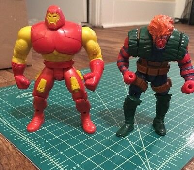 Lot of 2 Hulk Buster Iron Man Toy Biz Action Figure Marvel Grizzly X Force