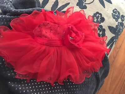Build A Bear Dress - Gorgeous red sparkles! Genuine!