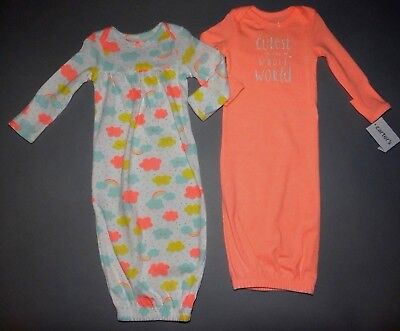 Baby girl clothes, Newborn, Carter's Little Baby Basics 2 gowns/SEE DETAILS!!