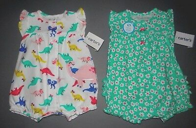 Baby girl clothes, 24 months, Carter's Adorable Snap-up Rompers