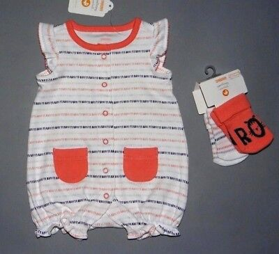 Baby girl clothes, 0 months/Newborn, Gymboree romper, socks/CLEARANCE SALE!