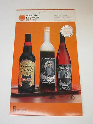 Martha Stewart Crafts - Animal Masquerade Collection - Halloween - Wine Labels