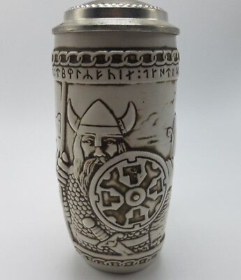 American Heritage Commemorative Stein Viking runic alphabet by Aladar Klubert Ce