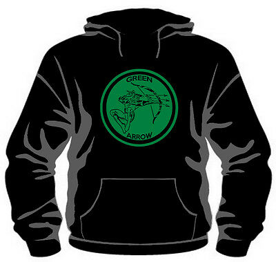 """Green Arrow """"Classic Badge"""" Hoodie *High Quality, Unisex, All Sizes*"""