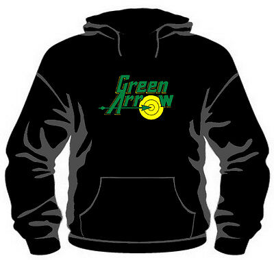 Green Arrow Classic Logo Pullover Hoodie *High Quality, Unisex, All Sizes*