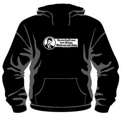 """Ron Swanson """"Whole-ass"""" Pullover Hoodie *High Quality, Unisex, All Sizes*"""