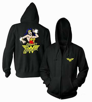 """WONDER WOMAN """"Classic"""" Zippered Hoodie - All Sizes"""