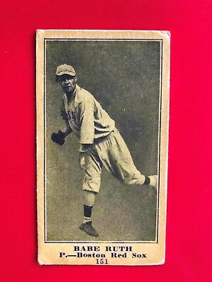 1916 Sporting News Babe Ruth Rookie Card - M101-4 baseball read description