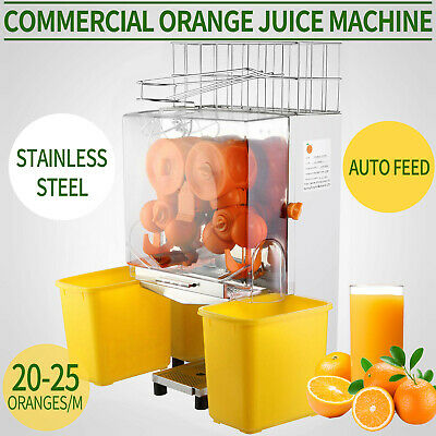 Commercial Auto Feed Orange Juicer Citrus Juice Squeezer Machine Extractor