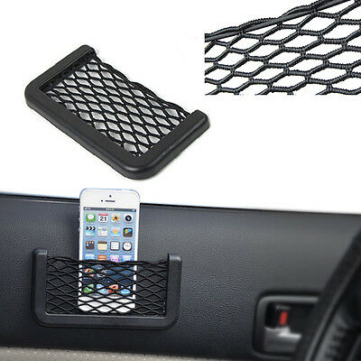 Auto Back Rear Trunk Car Seat Elastic String Net Mesh Storage Bag Pocket Cage