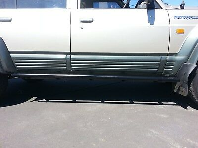 Rock Sliders Gq Nissan Patrol Wagon. Extra Heavy Duty Rocksliders / Steps