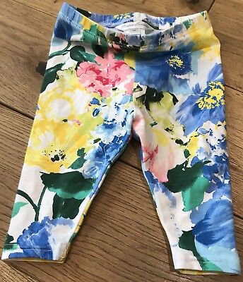 Baby Girls Genuine Ralph Lauren Floral Leggings Size 3 Months
