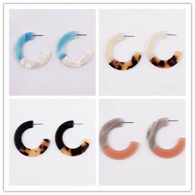Wholesale Classic Leopard Resin Acrylic Circle Hoop Earrings Women Girl Jewelry