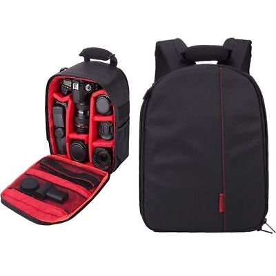 Waterproof SLR DSLR Camera Case Bag Soft Backpack Rucksack For Nikon Canon Sony