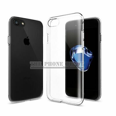 For iPhone X 7 7 Plus Ultra Clear Soft Gel Crystal Bumper Case Cover USA Stock