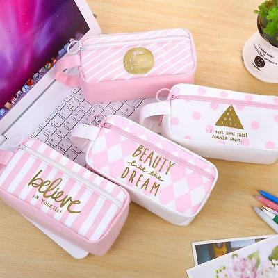 Travel Organizer Accessory Toiletry Cosmetic Make Up Holder Bag Pouch Pen Case #