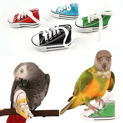 Mini Canvas Shoes Bird Toy Parrot Cockatiel Cage Hanging Craft FootToys For Fun: