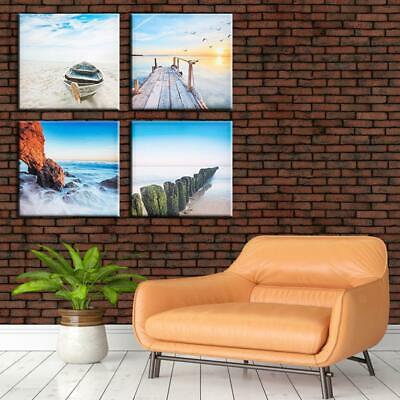 4 Panels Natural Landscape Canvas Painting Wall Art Poster Living Room Decor