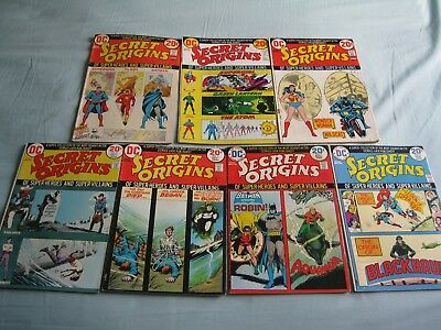 Secret Origins #s 1 - 7 from 1973/1974 a rare FULL SET of this Fantastic Series