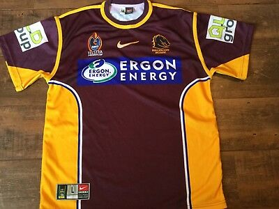 4b95e11a 2006 BRISBANE BRONCOS Rugby League Shirt Adults Large NRL Jersey