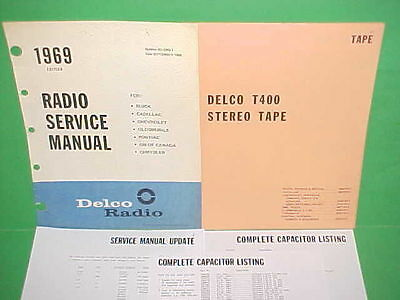 1969 Camaro Chevelle El Camino Firebird 442 Gs Delco 8-Track Tape Service Manual