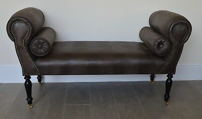 Super Chaise Longue Lounge Sofa Daybed Bench Seat In Faux Brown Ncnpc Chair Design For Home Ncnpcorg