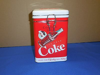 Coca-Cola Advertising Tin Canister,Ice Cold Coke