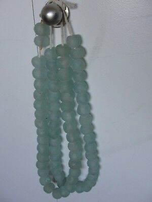 African Ghana Translucent Recycled Glass Big Trade Beads Necklace Jewelry Africa