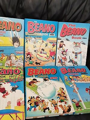 Job Lot collection Of Beano Annuals x 6
